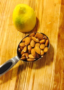 It all starts with almonds and lemon.