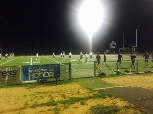 Sunday Night Lights...the hubby's flag football team.